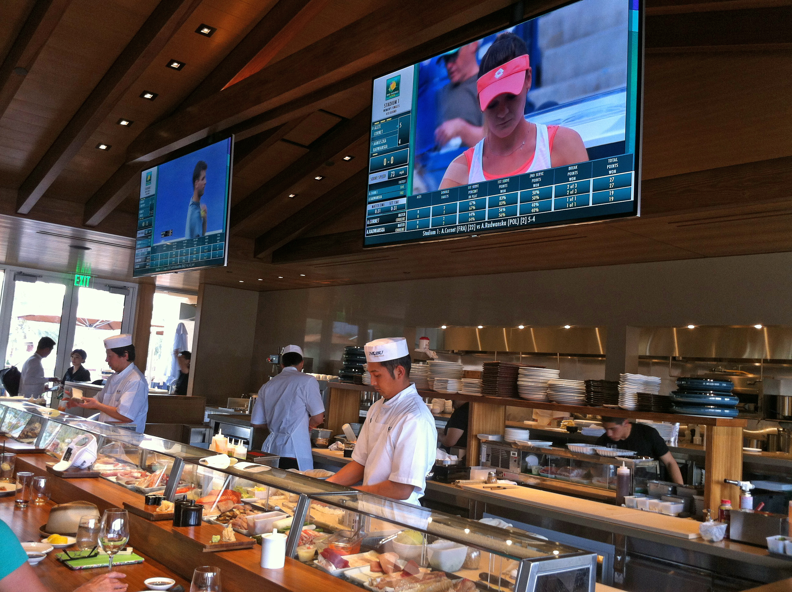 nobu restaurant inside stadium 2 at the indian wells tennis garden - Indian Wells Tennis Garden
